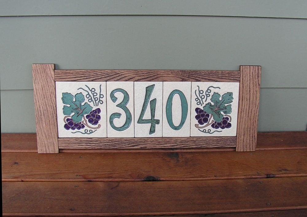 stoneware house number tiles and decorative end tiles made to. Black Bedroom Furniture Sets. Home Design Ideas