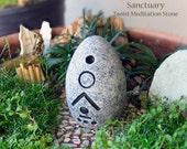 Sanctuary - Handcrafted Taoist Meditation Altar Stone - Handpainted Clay - Planter and Terrarium Decor - Zen Garden - Mindful Practice