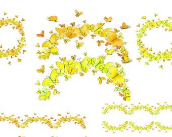 border clip art multi color border water color borders