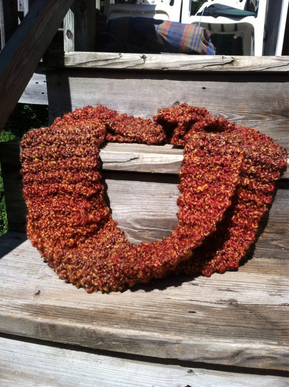 Autumn chuncky homespun warm extra thick long cowl forever scarf