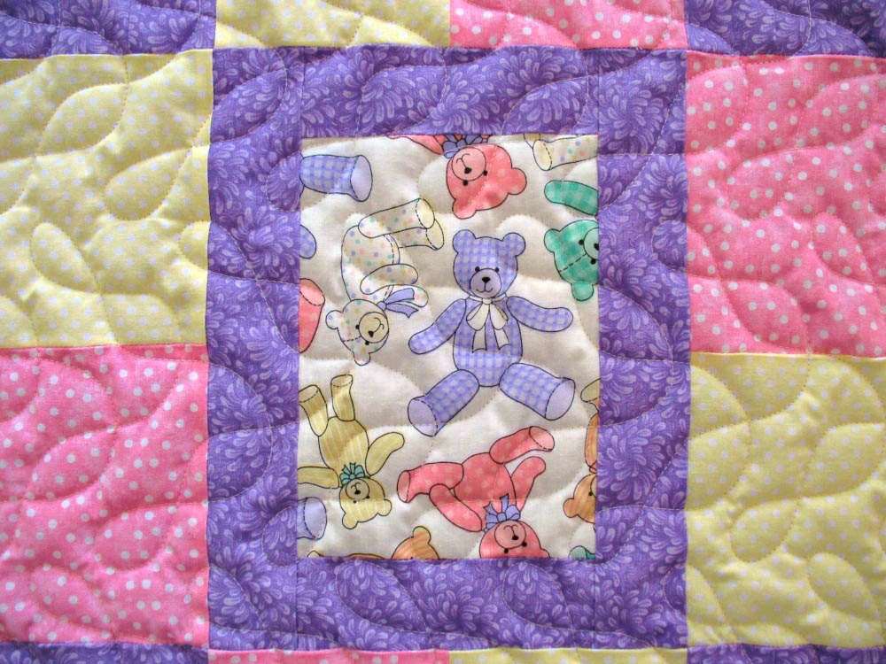 Full Size Crib Mattress Baby Quilt for Girl Handmade Baby Quilt by SticksNStonesGifts