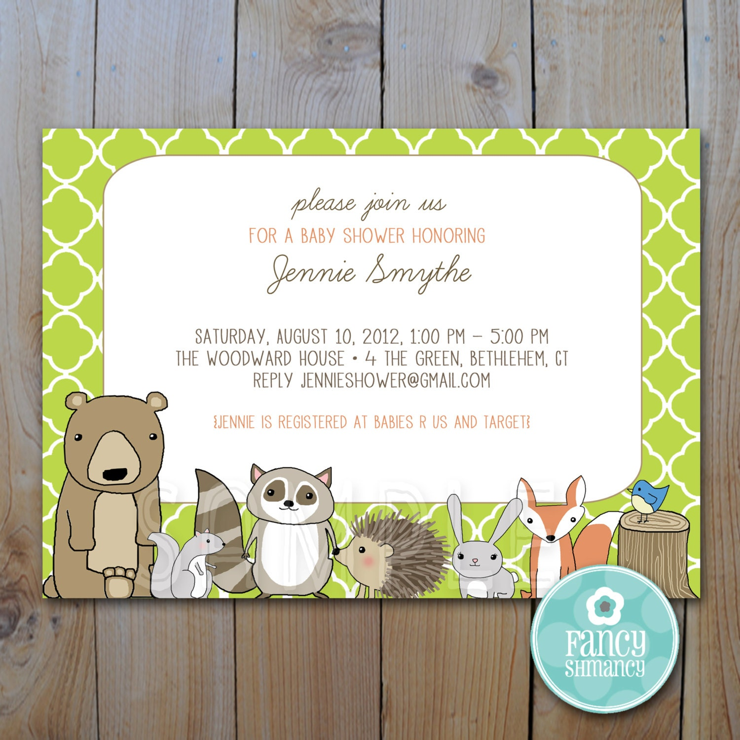 little critters woodland animals baby shower by fancyshmancynotes