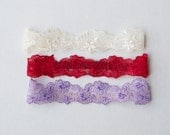 7 colors NEWBORN floral lace halo heaband photo prop rEaDy To ShIP