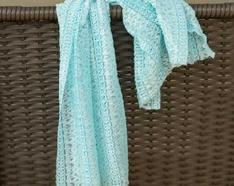 mint wrap ribbon stretch lace newborn girl 0-3 months photo prop READY TO SHIP