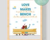 "PRINTABLE Art ""Love is what makes"" 8x10 inches (20.32 x 25.4 cm)  Printable Art  - Wall Art, Print at home, Print Art , Digital Art Print"