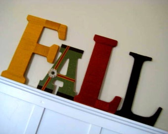 SALE FaLL Yarn Wrapped LetterS DecoratioN