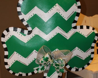 Large St Patrick's Day Shamrock door/wall decoration