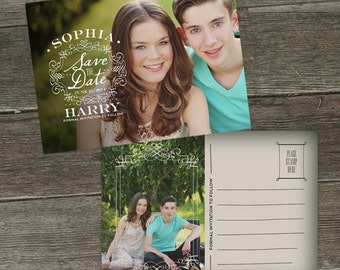 Stella and Josh 5x7 Save the Date Photoshop Template