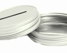 Aluminum-Make Your Own Mason Jar Bank Coin Lid Topper! Use for 52 Week Money Challenge! Silver coin lid
