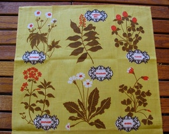 Tammis Keefe Linen Wildflowers Tea Towel Belgian Linen New w/ Tag Unused