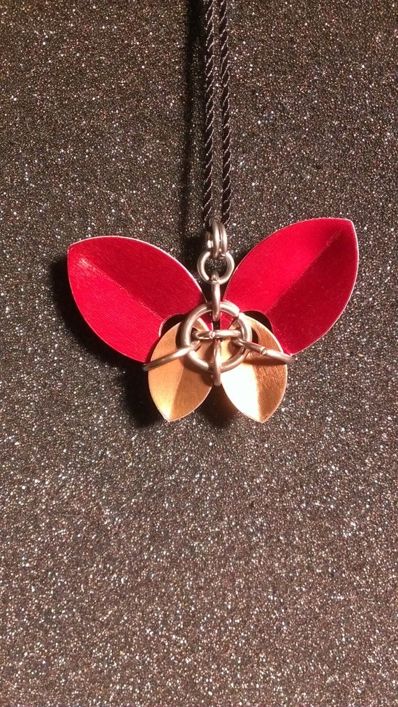 Scale Maille Butterfly Pendant