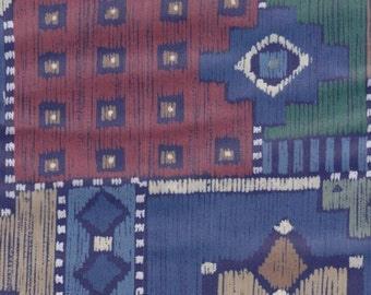 Cotton Fabric ~ 25 Inches x 36 Inches ~ South Western Look Remnant ~ 4 Classic Charm Quilting ~ Fun Scrappy Quilt Piecing ~ 108 - 1 B1