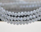 Crystal Glass Rondelle Faceted beads 3x4mm Grey -(BZ04-112)/ 145pcs