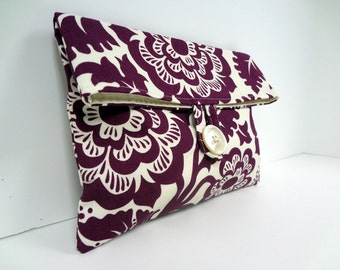Eggplant Clutch Bridesmaid Gift Eggplant Wedding READY TO SHIP