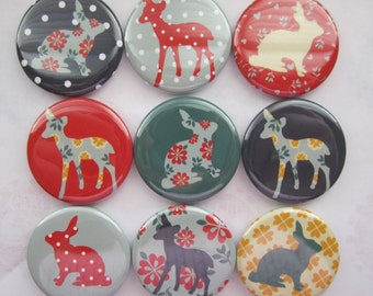 Magnets set of 9 button magnets