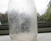 vintage f.d. feimster point pleasant n.j. one quart milk bottle