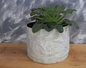 Repurpose Tin LOOKS GOOD Plant Holder in old ceiling tin