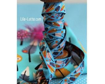 """Jacquard Ribbon Trim """"Pluma"""", Turquoise from Lila-Lotta Design"""