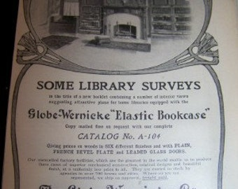 1905 ad The Globe WERNICKE cO. 5 1/2 x 7  original ad