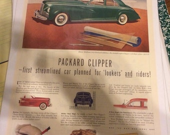 1941 Packard Clipper automobile print ad