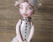 Pearl Cookie Elf Art Doll Fairy Magical Creation from clay