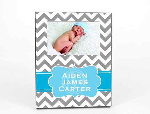 Personalized Picture Frame for 4x6 Photo Baby Girl Baby Boy Custom Frame Gift UPBG-01
