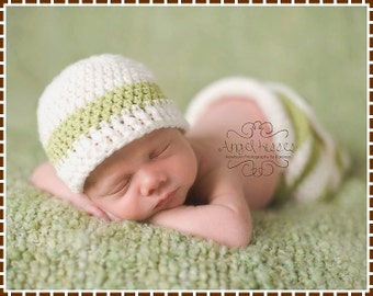 Pants and Beanie Crochet Patterns, 3 Sizes  from Newborn to 6-12 Mo, AIDEN - pdf 718, 312