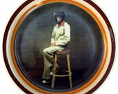 Portrait of Jerry, 1975 - Altered Vintage Plate 9.25""