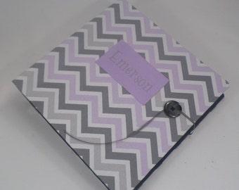 BABY PHOTO ALBUM custom Photo Album baby girl Photo Album Personalized photo album 4x6 5x7 8x10 picture album Lavender Purple Gray Chevron B
