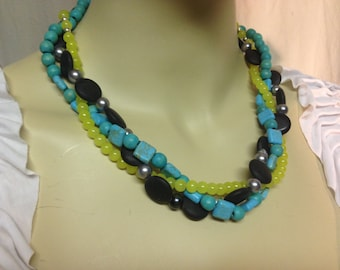 Beaded Necklace - 3 Strand