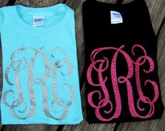 Glitter monogram shirt SHORT SLEEVE