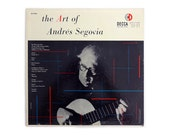 "Piedra Blanca (attributed) record album design, c.1950s. ""The Art of Andrés Segovia"" LP"