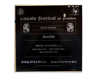 """Ronald Clyne record album design, c.1960. """"Casal Festival at Prades, Third Series (Brahms)"""" LP"""