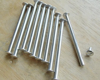 5 inch Scrapbook Screw Posts set of 10 aluminum posts