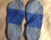 Thick felted shoe insole inserts For men  size 10 male youth using Upcycled wool Sweater Best Insole for out doors