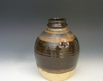 Hand thrown stoneware pottery small bottle  (ABT-2)
