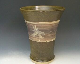 Hand thrown stoneware pottery jar  (AJ-13)