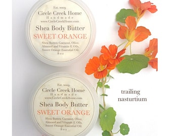 Sweet Orange Shea Body Butter - Handmade by Circle Creek Home