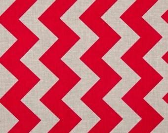 Designer Ironing Board Cover - Riley Blake Medium Chevron in Scarlet and Grey