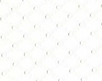 Michael Miller's Lattice Eyelet ET6345 (White) 1 yard