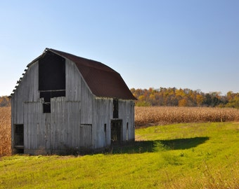 Fine Art Photo of barn near Columbus, Indiana (IDAUT166)