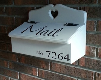Mailbox Mail number Vinyl Wall Lettering Words Quotes Decals Art Custom