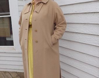Vintage 50s Winter Coat Plus XL Plus 44 Bust Brynwood Camel Tan