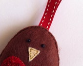 Made with Love - Bobby Robin Festive Sparkle Decoration