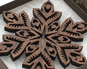 Wooden Christmas Ornaments - Snowflake Designs
