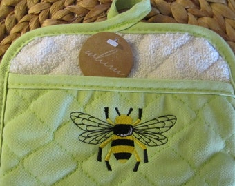 Pot Mitt - Napoleonic Bumble Bee - Whim - 100% Cotton