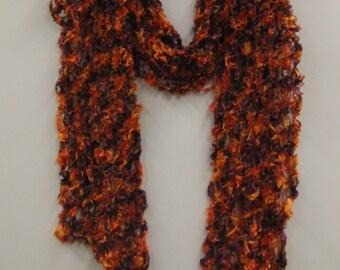 Autumn Fire fishnet scarf