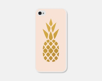 iPhone 6 Case Pink and Gold Pineapple iPhone 5c Case Pineapple iPhone 5 Case Pineapple iPhone 4 Case Pineapple 5s Case Pineapple Phone Case