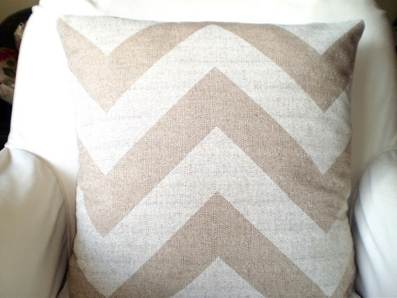 Large Off White Throw Pillows: Chevron Throw Pillow Covers Decorative Pillows By