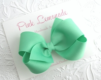 Mint Green Boutique Hair Bow ~ Girls, Toddlers